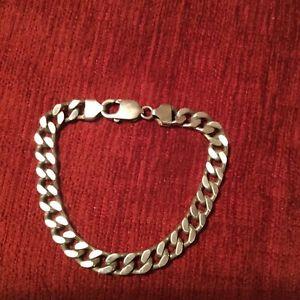 【送料無料】ブレスレット アクセサリ― スターリングシルバーブレスレットグラムインチロング925 sterling silver chunky curb bracelet,heavy 335grams 85 long