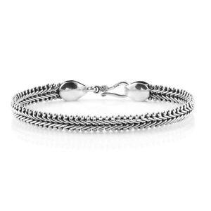 【送料無料】ブレスレット アクセサリ― ロイヤルスターリングシルバーブレスレットシルバーroyal sterling silver bracelet, silver wt 2147 gms