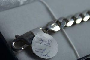 【送料無料】ブレスレット アクセサリ― ブランドスターリングシルバーリンクブレスレットトリガーファスナーbrand sterling silver curb link bracelet 85 14g trigger fastener