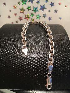 【送料無料】ブレスレット アクセサリ― ワウケーブルリンクソリッドスターリングシルバーブレスレットwow substantial cable link solid 75 925 sterling silver bracelet 21g
