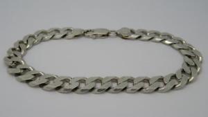 経典 【送料無料】ブレスレット アクセサリ― ソリッドスターリングシルバーリンクロングブレスレットグラム***solid sterling silver curb link 9 long bracelet292 grams***, ヒラドシ 50ea89c1