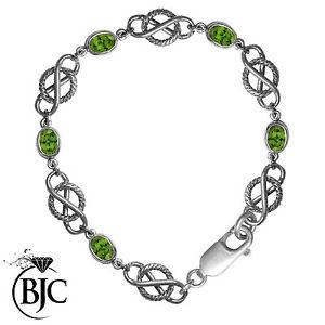 【送料無料】ブレスレット アクセサリ― スターリングシルバーペリドットセルティックツイストブレスレットロープデザインブランドデザインsterling silver peridot celtic twist bracelet rope design brand deisgn