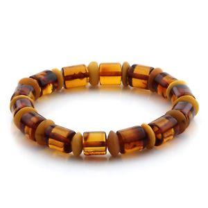 【送料無料】ブレスレット アクセサリ― バルトブレスレットシリンダービーズグラムnatural baltic amber bracelet large cylinder beads 10mm 11gr mrc78
