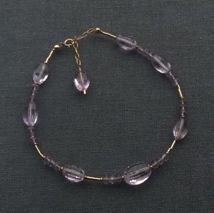 【送料無料】ブレスレット アクセサリ― メッキケープアメジストビーズブレスレット14k gold filled cape amethyst beads bracelet 8 one of a kind