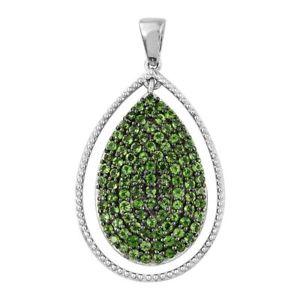 【送料無料】ブレスレット アクセサリ― プラチナムシルバーペンダントplatinum plated silver pendant for women with diopside