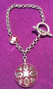 【送料無料】ブレスレット アクセサリ― イタリアデザイナーシルバーエナメルブレスレット** fili menegatti italian designer silver 925 enamel amp; cz charm bracelet