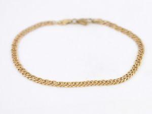 【送料無料】ブレスレット アクセサリ― チェーンブレスレットゴールドレディースdouble curb chain bracelet 9ct gold ladies stunning 375 ac89