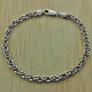 【送料無料】ブレスレット アクセサリ― ゴールドファンシービーズリンクブレスレットuk hallmarked 9ct gold fancy woven beaded link bracelet 75 rrp 200 hc12