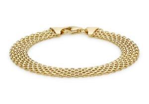 【送料無料】ブレスレット アクセサリ― ソリッドイエローゴールドブレスレットメッシュレディースボックスsolid 9ct yellow gold bismark 9mm wide bracelet 19cm75 mesh womens gift boxed