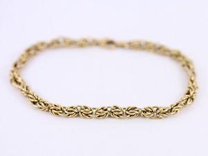 【送料無料】ブレスレット アクセサリ― レディースチェーンブレスレットゴールドヒントladies chain bracelet 9ct gold stunning 51g ak25