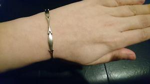 【送料無料】ブレスレット アクセサリ― ヴィンテージホワイトゴールドブレスレットvintage 14ct white gold bracelet