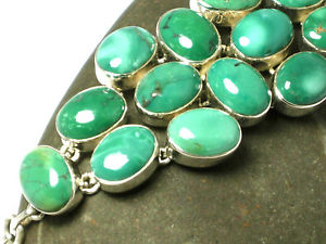 【送料無料】ブレスレット アクセサリ― ターコイズスターリングシルバーブレスレットボックスchunky turquoise  sterling silver  925 gemstone bracelet  gift boxed