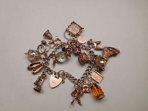 【送料無料】ブレスレット アクセサリ― ビンテージスターリングシルバーブレスレットfabulous vintage sterling silver 925 womens charm bracelet