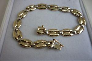 【送料無料】ブレスレット アクセサリ― イエローホワイトゴールドファンシーブレスレット9ct yellow amp; white gold fancy bracelet b934