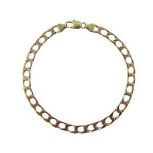 【送料無料】ブレスレット アクセサリ― イエローゴールドインチブレスレットロブスタークラスプ9ct yellow gold 8inch 5mm heavy square curb bracelet 11mm lobster clasp