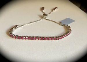 【送料無料】ブレスレット アクセサリ― ルビーブレスレットスターリングシルバー605ct genuine ruby bracelet 925 sterling silver certified beautiful bnwt