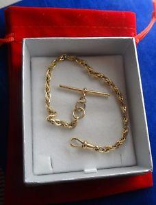 【送料無料】ブレスレット アクセサリ― パターンゴールドツイストロープブレスレットバー¥コンpatterned 9ct gold twist rope bracelet t bar 7758 11gr rrp 500 cx688 ex con