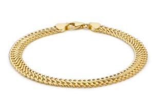 【送料無料】ブレスレット アクセサリ― ソリッドイエローゴールドチェーンブレスレットボックスsolid 9ct yellow gold hollow woven curb chain bracelet 19cm75 gift boxed
