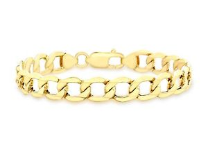 【送料無料】ブレスレット アクセサリ― イエローゴールドクラシックブレスレットボックス9ct yellow gold classic 45grams curb bracelet 185cm725 womens gift boxed