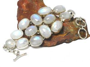 【送料無料】ブレスレット アクセサリ― ムーンストーンスターリングシルバーブレスレットボックスmoonstone sterling silver 925 gemstone bracelet  gift boxed