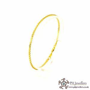 【送料無料】ブレスレット アクセサリ― イエローゴールドブレスレットポンド22ct 916 hallmark yellow gold bracelet lb4