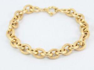 【送料無料】ブレスレット アクセサリ― レディースチェーンブレスレットゴールドladies rolo chain bracelet 9ct gold decorative stunning 375 c44