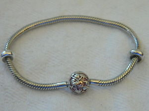 【送料無料】ブレスレット アクセサリ― シルバーウェールズゴールドピンクエナメルビーズブレスレットclogau silver amp; welsh gold pink enamel bead charm bracelet 19cm rrp 13900