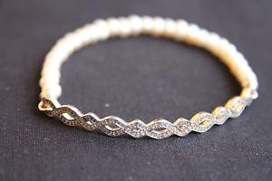 【送料無料】ブレスレット アクセサリ― トーマススターリングシルバーパールブレスレットthomas sabo love bridge sterling silver pearl cz bracelet lba000616714l175