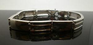 【送料無料】ブレスレット アクセサリ― スターリングシルバースタンプリンクインチブレスレットsterling silver fancy link 8 34inch bracelet with stamp and hallmark