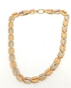 【送料無料】ブレスレット アクセサリ― ローズホワイトゴールドブレスレット9ct rose and white gold fancy bracelet 74 fully hallmarked