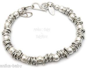 【送料無料】ブレスレット アクセサリ― スターリングソリッドシルバーキャンディリングビーズブレスレットイギリス sterling solid silver 925 sweetie rings beads bracelet handmade england uk