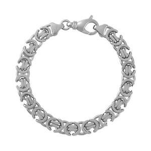 【送料無料】ブレスレット アクセサリ― スターリングシルバーメンズソリッドフラットビザンチンブレスレットsterling silver 925 mens chunky heavy solid flat byzantine bracelet width 8mm