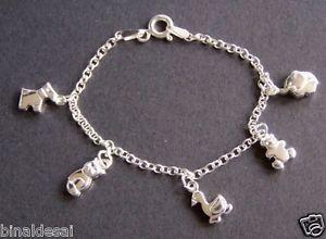 【送料無料】ブレスレット アクセサリ― スターリングシルバースコッティブレスレットkids girls 925 sterling silver animal cat scottie dog charm bracelet bday gift