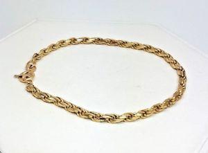 【送料無料】ブレスレット アクセサリ― ロープリンクブレスレットイエローゴールド587g rope link bracelet 9ct yellow gold 5203c