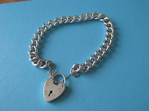 【送料無料】ブレスレット アクセサリ― レディーススターリングシルバーブレスレットladies sterling silver bracelet ~ width 9mm ~ 20cms long ~ 3673g ~ boxed