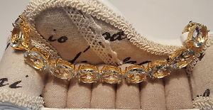 【送料無料】ブレスレット アクセサリ― kゴールドグリーンアメジストブレスレットstunning 75ct genuine green amethyst bracelet in14k gold over sterling silver