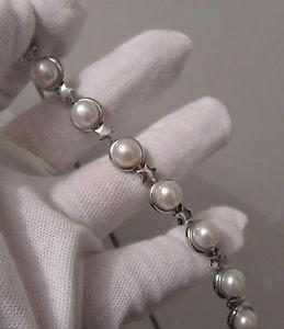 【送料無料】ブレスレット アクセサリ― シルバーブレスレットパールリンクa hallmarked silver bracelet pearl amp; star shaped links ~ boxed ideal gifts