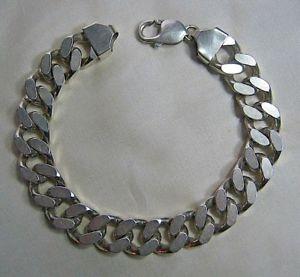 【送料無料】ブレスレット アクセサリ― ゲントブレスレットheavy gents silver curb bracelet 66gm