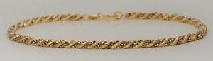 【送料無料】ブレスレット アクセサリ― イエローホワイトゴールドツイストロープボックスリンクブレスレット9ct yellow amp; white gold twist rope box link bracelet 7
