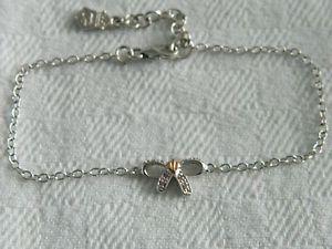 【送料無料】ブレスレット アクセサリ― シルバーピンクサファイアブレスレットウェールズゴールドツリーclogau silver amp; 9ct welsh gold tree of life pink sapphire bow bracelet