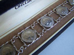 【送料無料】ブレスレット アクセサリ― ビンテージスターリングシルバーゲオルクペンスコインブレスレットインチvintage sterling silver georg iv three pence 1931 coin signet bracelet 7 long