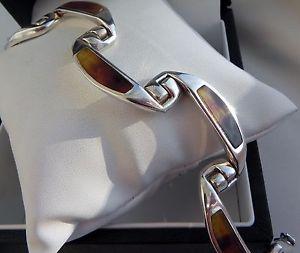 【送料無料】ブレスレット アクセサリ― ビンテージgスターリングシルバーブレスレットイタリアデザイナースタンプexquisite vintage 50g sterling silver 925 bracelet italy designer stamped 66 ar