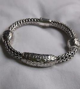 【送料無料】ブレスレット アクセサリ― スターリングシルバーブレスレットクロコダイルモチーフ925 sterling silver bracelet crocodile motif