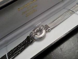 【送料無料】ブレスレット アクセサリ― スターリングリゾーツスターリングシルバーブレスレットマルチチェーンロンドンアッセイィスsterling silver bracelet multi chain ~ unusual hallmarked london assay ice