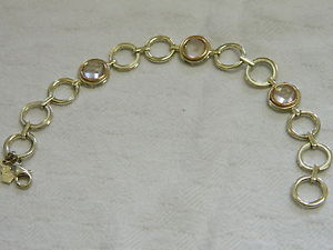 【送料無料】ブレスレット アクセサリ― スターリングシルバーウェールズゴールドローズクォーツブレスレットclogau sterling silver amp; 9ct welsh gold ripples rose quartz bracelet rrp 30000