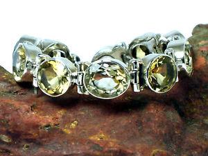 【送料無料】ブレスレット アクセサリ― シトリンスターリングシルバーブレスレットcitrine sterling silver 925 gemstone bracelet