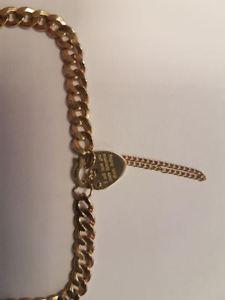 ブレスレット アクセサリ— ゴールドブレスレットレディースボックスチェーン listing9ct gold bracelet ladies boxed with safety chain