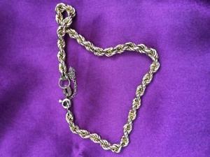 【送料無料】ブレスレット アクセサリ― ゴールドロープツイストブレスレットgold rope twist bracelet 14ct 49g