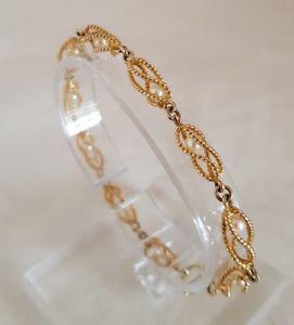 【送料無料】ブレスレット アクセサリ― イエローゴールドロープデザインブレスレットロンドン9ct yellow gold rope twist design braceletset with cultured pearlslondon 1967