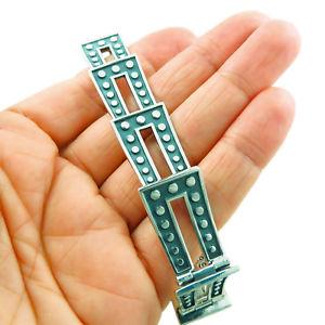 【送料無料】ブレスレット アクセサリ― タスコドミノトーンブレスレットカフボックスsterling 925 taxco silver domino two tone bracelet cuff gift boxed
